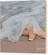 Water Veil Wood Print