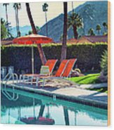 Water Waiting Palm Springs Wood Print