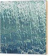 Water Wall Blue Wood Print