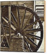 Water Wheel At The Grist Mill Wood Print