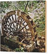 Water Wheel Wood Print by Marty Koch