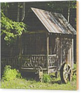 Water Wheel Shed Wood Print