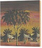 Watercolor 1 Wood Print