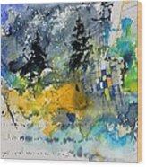 Watercolor 414062 Wood Print