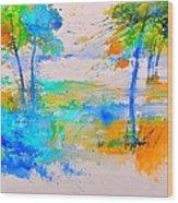 Watercolor 45314012 Wood Print