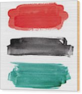 Watercolor banner collection Wood Print