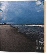 watercolor Beach Wood Print