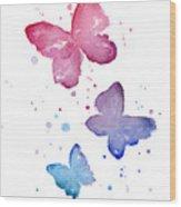 Watercolor Butterflies Wood Print