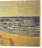 Watercolor Coast 2 Wood Print