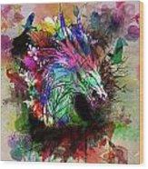 Watercolor Dragon Wood Print