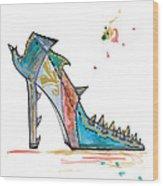 Watercolor Fashion Illustration Art Wood Print
