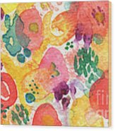 Watercolor Garden Wood Print
