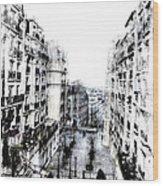 Watercolor Montmartre Wood Print