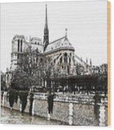 Watercolor Notre Dame Wood Print