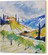 Watercolor Toscana 317040 Wood Print