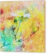 Watercolor Wildflowers - Digital Paint Wood Print