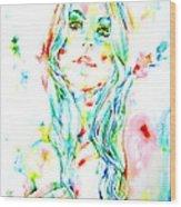 Watercolor Woman.1 Wood Print