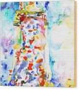 Watercolor Woman.18 Wood Print