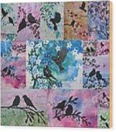 Watercolour Birds Wood Print