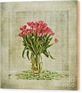 Watercolour Tulips Wood Print by John Edwards