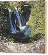Waterfall And Rainbow 3 Wood Print