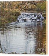 Waterfall At Bonneyville Wood Print