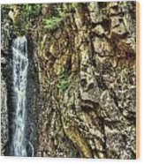 Waterfall At Castle In The Clouds Wood Print