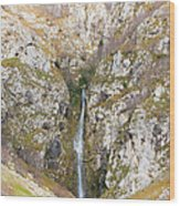 Waterfall At Lago Del Matese Wood Print