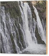 Waterfall At Macarthur-burney Falls State Park  Wood Print
