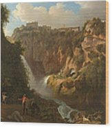Waterfall At Tivoli Wood Print