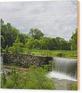 Waterfall At Valley Creek Near Valley Forge Wood Print
