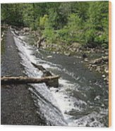 Waterfall At West Point II Wood Print