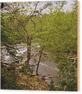 Waterfall At West Point Wood Print