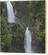 Waterfall, Chile Wood Print