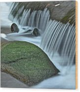 Waterfall Close Up Wood Print
