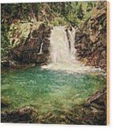 Waterfall Dreaming Wood Print