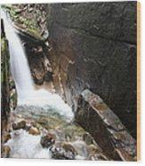 Waterfall Flume Gorge - Nh Wood Print