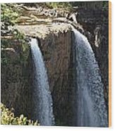 Waterfall From The Top Wood Print