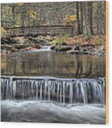 Waterfall - George Childs State Park Wood Print