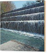 Waterfall Heaven Wood Print