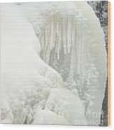 Waterfall Ice Formation Wood Print