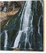 Waterfall In Austria Panorama Wood Print