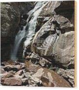 Waterfall In Colorado Wood Print