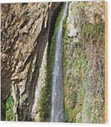 Waterfall In Ronda Wood Print