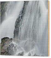 Waterfall In Spring Wood Print