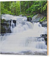 Waterfall In The Pocono Mountains Wood Print