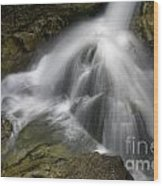 Waterfall In The Rocks Wood Print