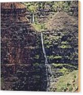 Waterfall In The Valley Wood Print