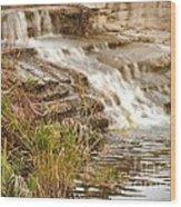 Waterfall Wood Print by Kimberly  Maiden
