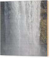 Waterfall Wood Print by Kiros Berhane